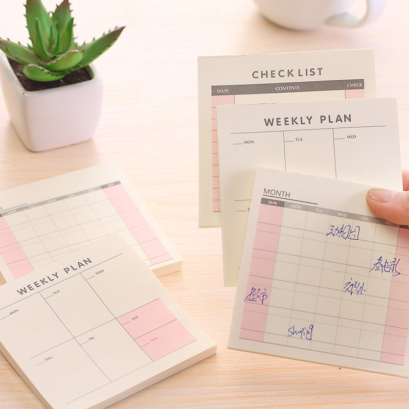 mini sticky notes agenda weekly monthly work planner