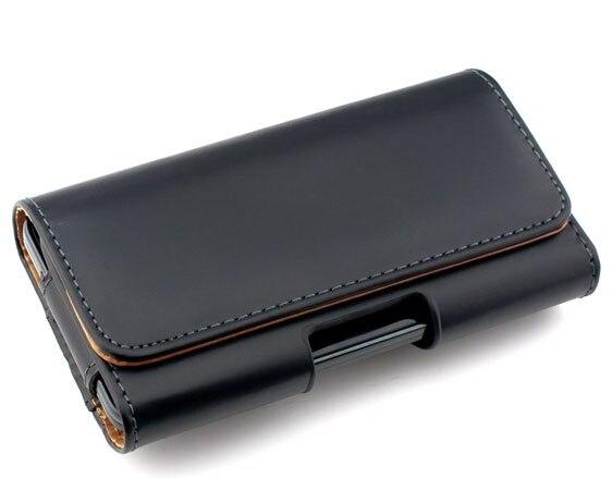 Nueva smooth/bolsa del cuero del patrón de lichee bolsa clip de cinturón para so