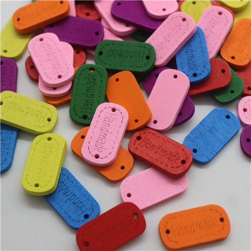 50 шт смешанные животные 2 отверстия деревянные пуговицы для скрапбукинга поделки DIY Детские аксессуары для шитья одежды пуговицы украшения - Цвет: brand