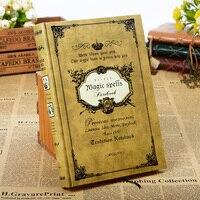 160sheets Vintage Magic Spell Composition Book Handcover Notebook Travel Journal Traveler S Notebook Sketchbook Kraft Paper