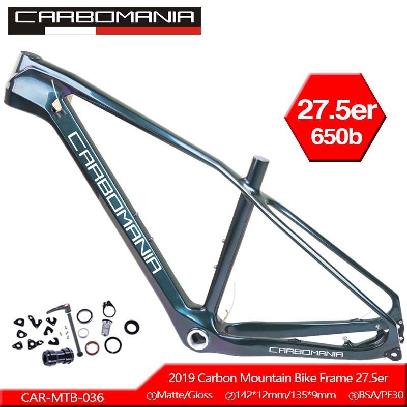 2018 New T800 Ud Mtb Carbon Frame 27.5er 650b Mtb Carbon Frame 27.5 Carbon Mountain Bike Frame 142*12 Or 135*9mm Bicycle Frame