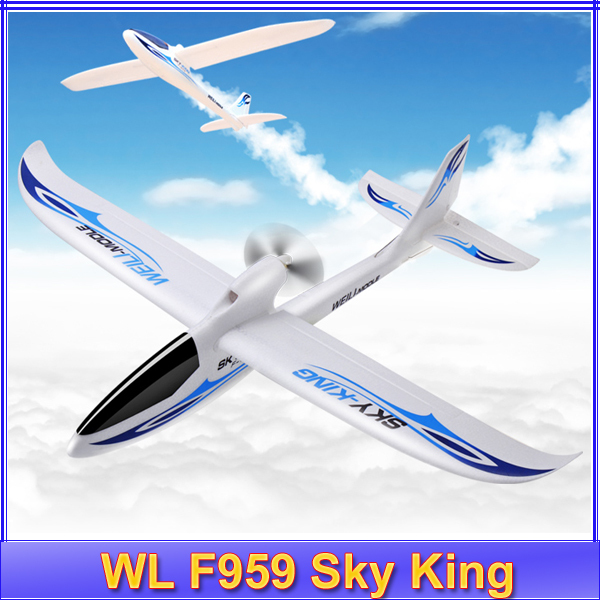 Wltoys F959 Sky King 3CH RC Airplane Fixed Wing Plane RTF Electric flying Aircraft VS WLtoys F929 F939 F949 free shipping wltoys f959 lights sky king 2 4g 3ch radio control rc rtf throwing flight airplane epo aircraft