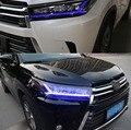 Светодиодные фары для Toyota Highlander 2018 2019 Автомобильные светодиодные фары двойные ксеноновые линзы автомобильные аксессуары дневные ходовые о...