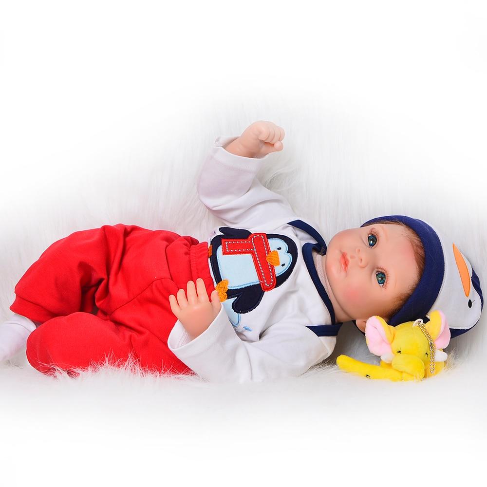 22 ''55 cm mode Reborn poupées bébés jouets pour garçon réaliste bébé Reborn doux Silicone mode enfants Playmates pour cadeaux d'anniversaire-in Poupées from Jeux et loisirs    2