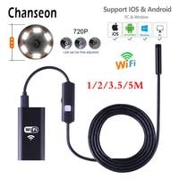 8mm Wifi Endoscope HD 720P 1m 2m 3 5m 5m Endoscope Lens Waterproof Camera Endoscopio Android