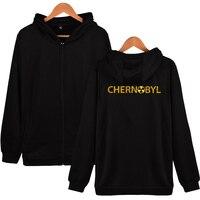 Chernobyl Men's Zipper Hoodie Off Black And White Kpop Harajuku Comfortable 2019 Winter Women Male Sweatshirt Outerwear 4XL