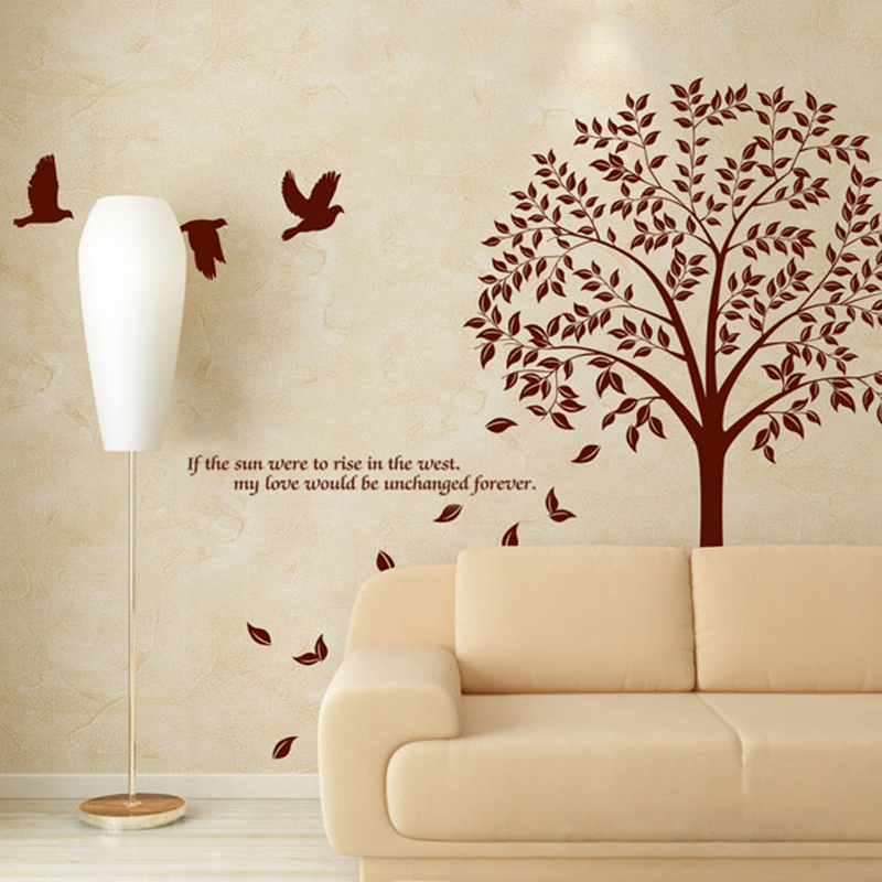 Oversized DIY Wall Decals Bird Tree Branch Wall Sticker For Home Decor  Removable Vinyl Wall Art