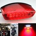 ZYHW Marca Universal de la motocicleta luces Traseras 12 LED de la motocicleta luz de freno 12 v Luz de la Matrícula