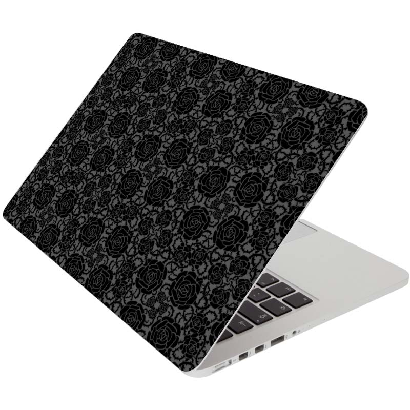 Black Rose Flower Laptop Sticker for font b Apple b font font b Macbook b font
