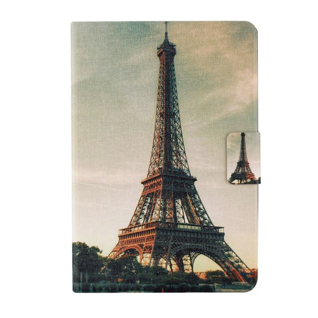 Paris Eiffel Tower Smart Stand PU Leather case For apple Ipad Mini 1/mini 2/mini 3
