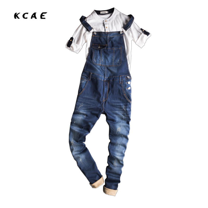New Mens Bib Denim Overalls Skinny Jeans Ripped Jumpsuit Men Blue Suspender Jeans Men Size M-XXXL denim overalls male suspenders front pockets men s ripped jeans casual hole blue bib jeans boyfriend jeans jumpsuit or04