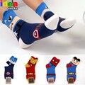 Harajuku coreano de moda 3d dos desenhos animados batman capitão américa meias de algodão mulheres engraçado bonito de mulheres de meias