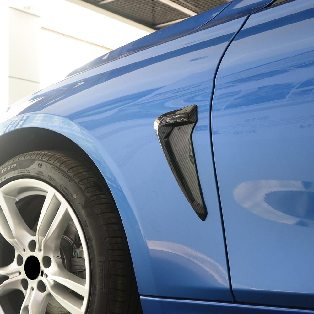 TPU Car Front Fender Side Air Vent Cover Trim Shark Gills Side Vent Sticker for BMW e90 e60 f30 f18 f48 f25 f26 1345series x1