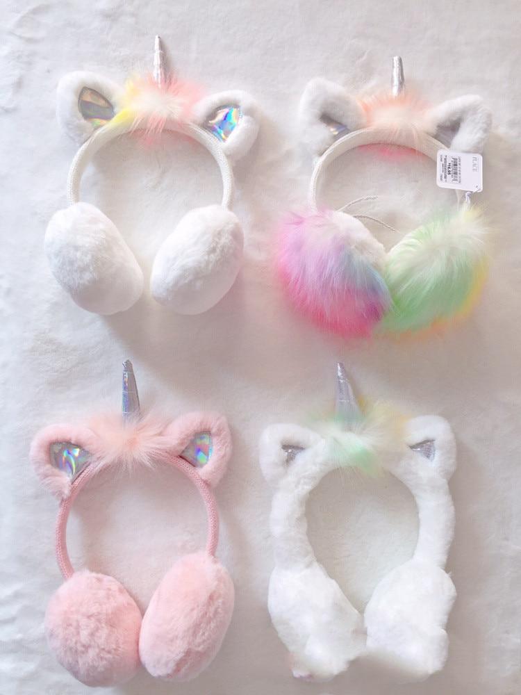 Anime Unicorn Lovely Plush Earmuffs Oorwarmers Meisje Winter Ear Muffs Warmer Cache Oreille Cosplay Costume Prop