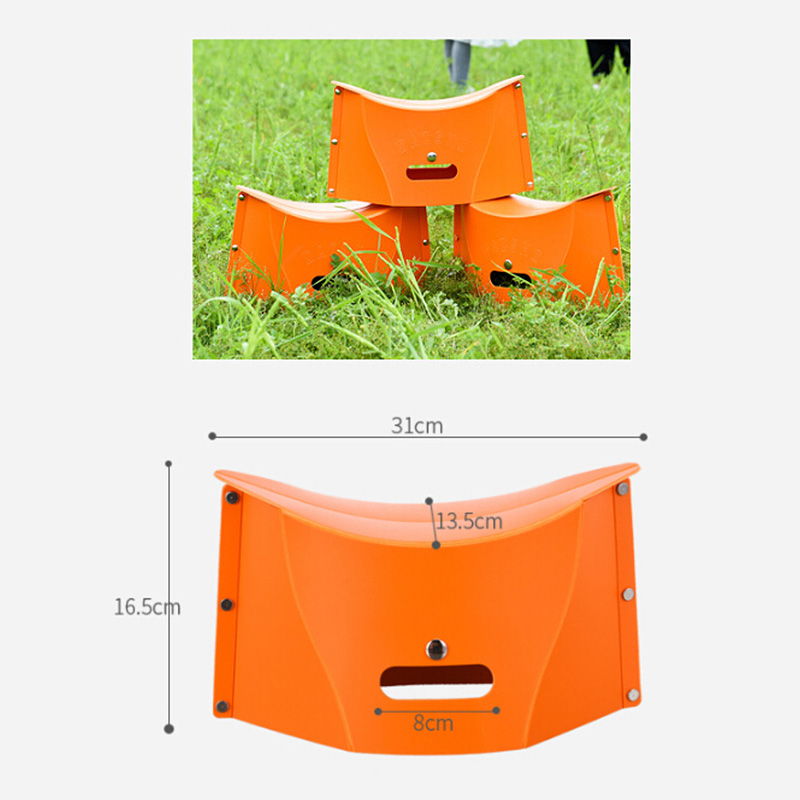 Folding Kids Adults Stool Chair Seat Ultralight Fishing PP Camping Portable Hiking