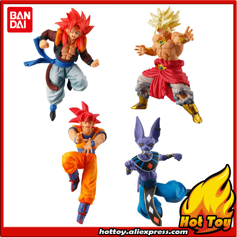 Sale 100% Original BANDAI Gashapon Toy Figure Battle VS 02 - Full Set of 4 Pieces Goku Beerus Gogeta Broly from Dragon Ball Z sailor moon capsule communication instrument machine accessory gashapon figure anime toy full set 100