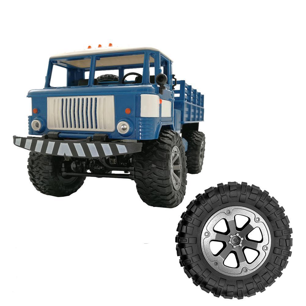 Neumático de goma RC neumáticos de coche de carreras en el borde de la rueda de carretera adecuado para WPL B-1 C-24 B-14 neumático grande RC diámetro de la pieza del coche 73,3mm 33,8/2,88 pulgadas