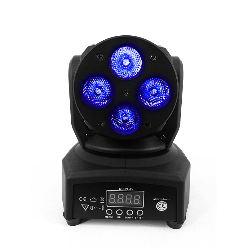 LED 4x10W Moving Head Light Rgbw 4in1 Quad DMX512 mini Wash Light Stage Lighting Effect For Luces Discoteca Home EntertainmenLED 4x10W Moving Head Light Rgbw 4in1 Quad DMX512 mini Wash Light Stage Lighting Effect For Luces Discoteca Home Entertainmen