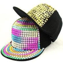 купить Bling Sequins Baseball Cap Hip Hop Caps Street Flat Sunscreen Sun Hat For Women Men New Design Adjustable Snapback Caps по цене 412.93 рублей