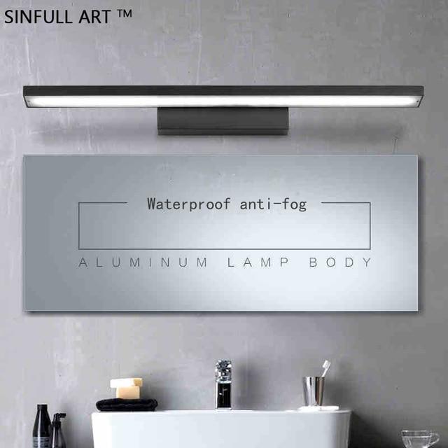 Moderna Impermeabile Bagno Trucco Leggero Specchio Lampada LED Casa ...