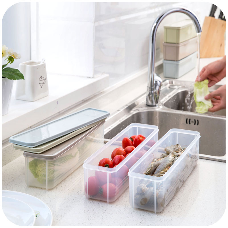 New Plastic Rectangular Refrigerator Food Storage Box With Lid Cover Candy  Noodle Food Crisper Organizer Kitchen Accessories In Storage Boxes U0026 Bins  From ...