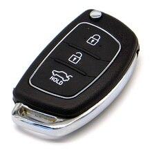 WhatsKey 3 Button Flip Folding Remote Key Shell Fob Case For Hyundai Mistra Santa Fe Sonata Tucson Accent I30 I40 I45
