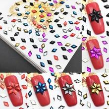 New 3D Nail Art AB Crystal Hot Drilling High Quality Flat Bottom Diamond Rhinestone Fashion Shape Deco
