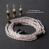 Обновления MMCX кабель для Shure SE215 SE425 SE535 SE846 UE900 Наушники гарнитуры наушники 2,5 мм 4,4 мм Balance 3,5 мм стерео Jack
