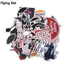 Flyingbee 16 Pcs Mary poppins Stickers Graffiti waterproof skateboard sticker personality suitcase computer stickers X0278(China)