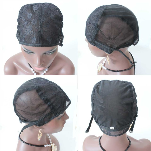 5pcslot Small Medium Large Size Jewish Base wig caps for making wigs  Glueless full lace Wig Caps Adjustable Strap On the Back ae15f343e