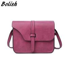 2017 Fashion Women's Handbag Bag Small Crossbody Bags Vintage Spring Women Shoulder Bag Nubuck Leather Women Bag