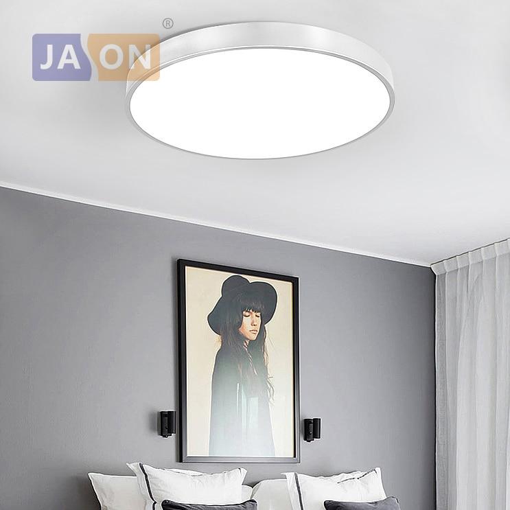 Led Modern Acryl Alloy Silver Round 5cm Super Thin Led Lamp.led Light.ceiling Lights.led Ceiling Light.ceiling Lamp For Foyer Lights & Lighting Ceiling Lights & Fans