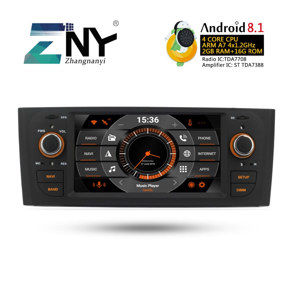 Android 8.1 Car Audio Video For Fiat Grande Punto Linea 2007 2008 2009 2010 2011 2012 Auto GPS Navigation Radio FM RDS No DVD