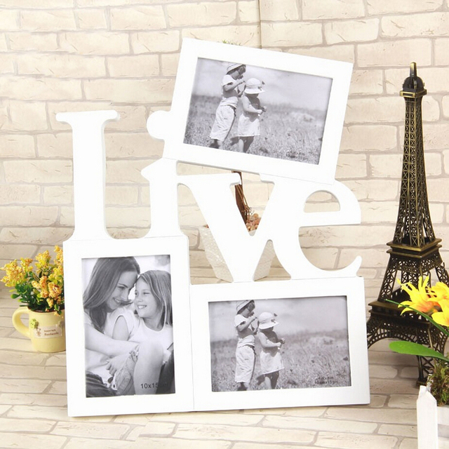 Photo Frame 3 Boxes Love And Live Family Photo Frame Father Mother ...