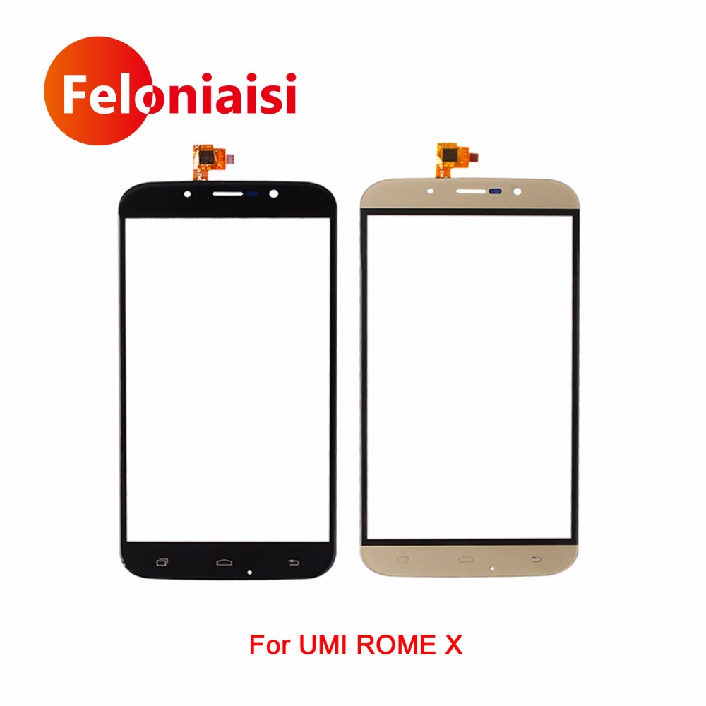 High Quality 5.5 For Umi Rome X Touch Screen Digitizer Sensor Outer Glass Lens Panel Black Gold+Tracking Code