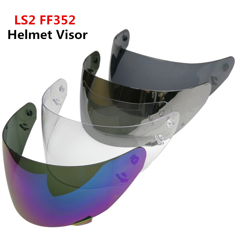 LS2 FF352 replacement face shield LS2 FF352 motorcycle helmet tinted smoke black silver helmet visor for full face LS2 helmets ls2 helmet