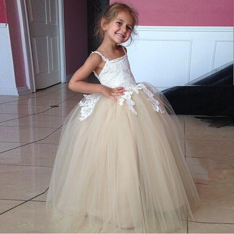 Comfortable tulle flower girl dresses cheap floor length white comfortable tulle flower girl dresses cheap floor length white appliques girls pageant dress low back ball gowns for wedding in flower girl dresses from mightylinksfo