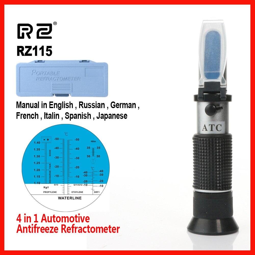 RZ Hohe Qualität Antifreez Refraktometer Einfrieren punkt Harnstoff Automotive flüssigkeit Glas wasser tester meter ATC Werkzeug RZ115