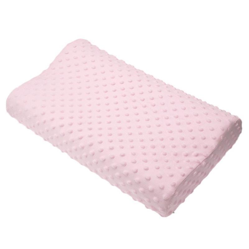 ModernPlain Dyed Nonwoven Slow Rebound Memory Foam Orthopedic Latex Neck Pillow Pink Blue White Bedding Cervical