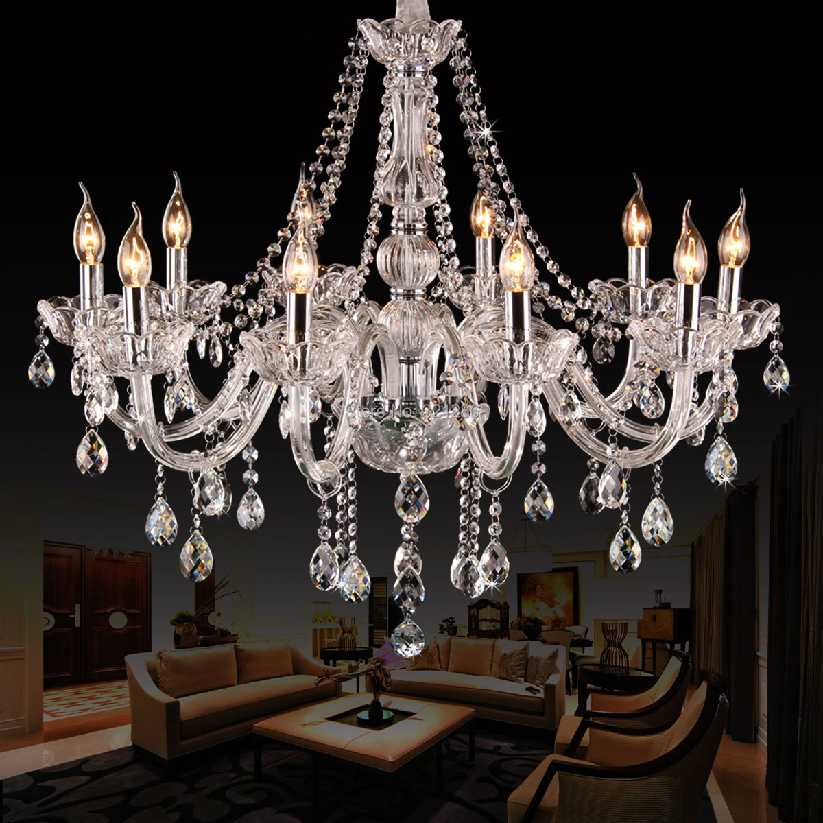 10 heads K9 crystal chandelier light living room lights bedroom lamp restaurant lamp brief modern chandelier lighting chandelier lighting crystal luxury modern chandeliers crystal bedroom light crystal chandelier lamp hanging room light lighting