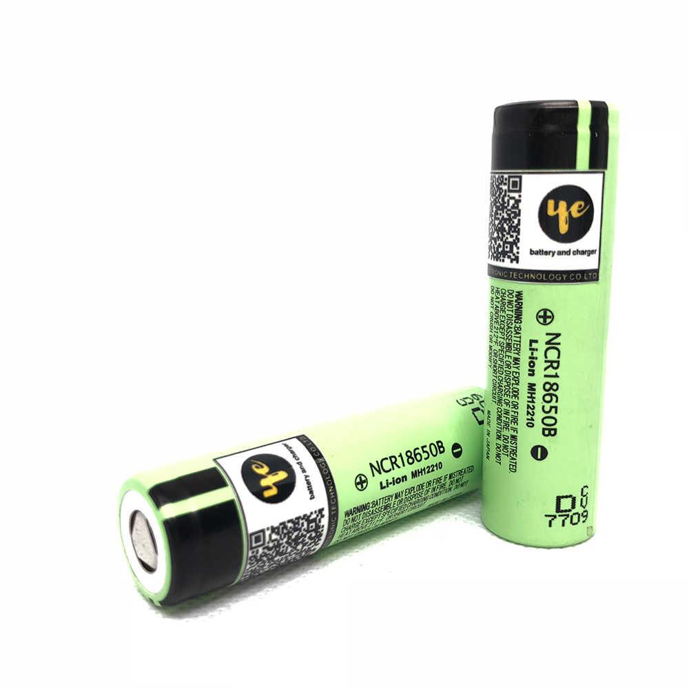 3.7V 18650 バッテリー NCR18650B リチウムイオン充電式バッテリー 3400Mah 3.7V 細胞パナソニック吸う電子タバコ懐中電灯トーチ