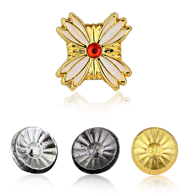 Ace Skull Ribbon Bow Lapel Pin Badge Pin Xy0066 At Any Cost Apparel Sewing & Fabric