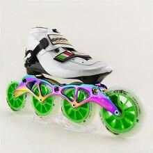Patines Professional Inline Skates Roller Skates Shoes Mens Speed Skating Roller Skates 4 Wheels Roller Patins