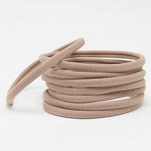 10 шт./компл. для маленьких девочек и мальчиков спандекс нейлоновая повязка для детей обтягивающие штаны, очень эластичная, не оставляющая следов Головные уборы нейлоновая эластичная повязка на голову