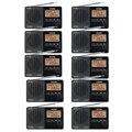 10PCS Tecsun PL-118 Radio Mini DSP FM Stereo Receiver ETM Alarm Clock Sleep Timer Portable Radio Recorder Y4142A