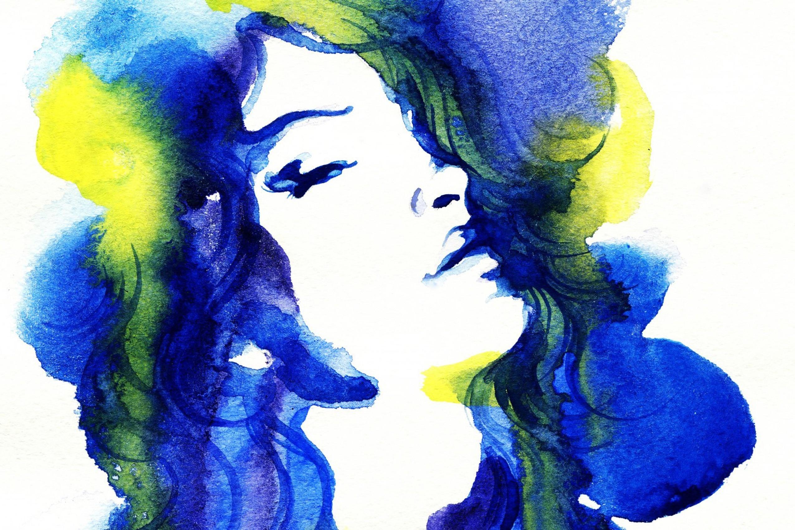 Blauw vrouw schilderen koop goedkope blauw vrouw schilderen loten ...