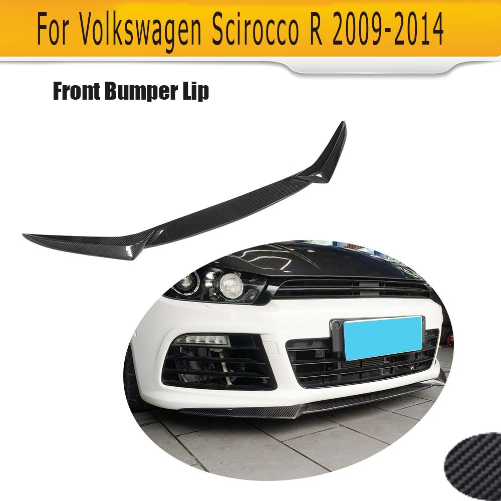 Carbon Fiber Front Bumper Lip Spoiler for Volkswagen VW Scirocco R 2009-2014 Non Standard car style