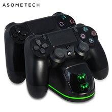 Caricatore senza fili Per PS4/PS4 Sottile/PS4 Pro LED Dual Dock di Ricarica Per PS4 Regolatore di Carica Del Basamento Per sony PlayStation 4 Pro P4