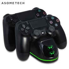 Draadloze Oplader Voor PS4/PS4 Slim/PS4 Pro LED Dual Charging Dock Voor PS4 Controller Charge Stand Voor sony PlayStation 4 Pro P4