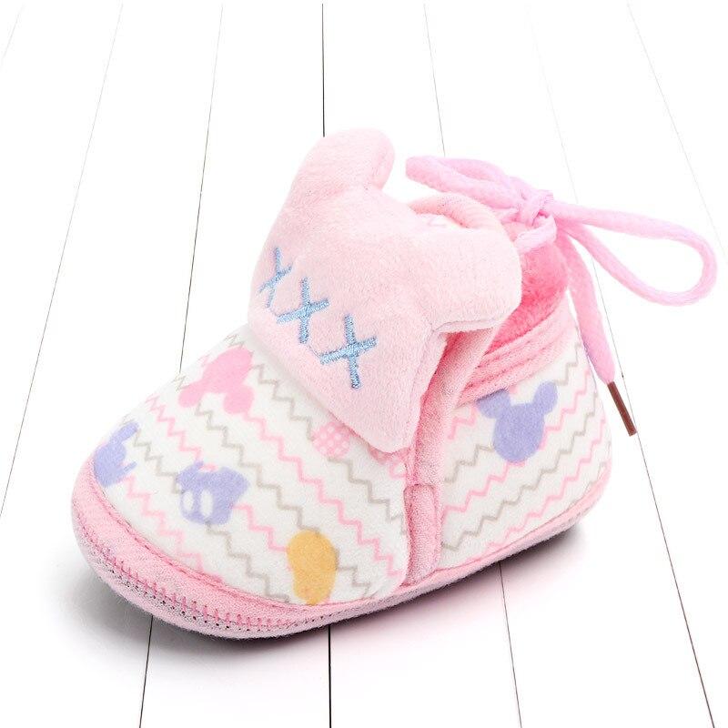 Indoor First Walkers Baby Shoes Cotton Anti-slip Booties Winter Wammer Baby Girl Boy Shoes Newborn Slippers Footwear Booties (46)